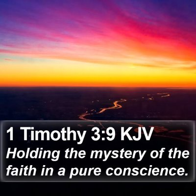 1 Timothy 3:9 KJV Bible Verse Image