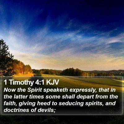 1 Timothy 4:1 KJV Bible Verse Image