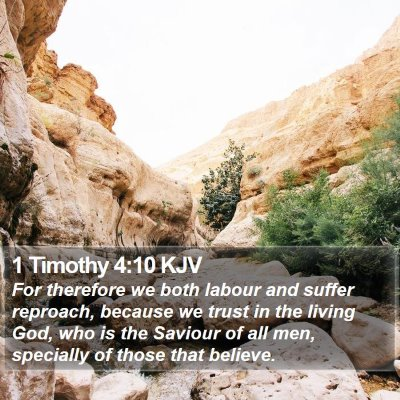 1 Timothy 4:10 KJV Bible Verse Image