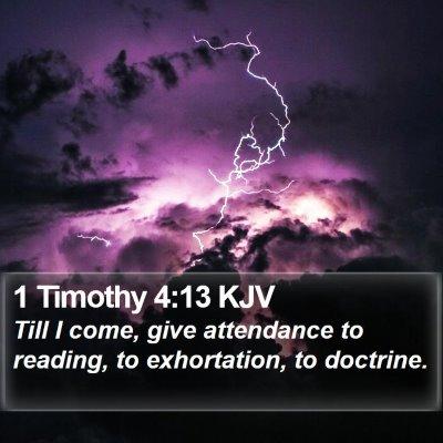1 Timothy 4:13 KJV Bible Verse Image