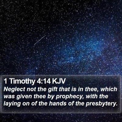 1 Timothy 4:14 KJV Bible Verse Image