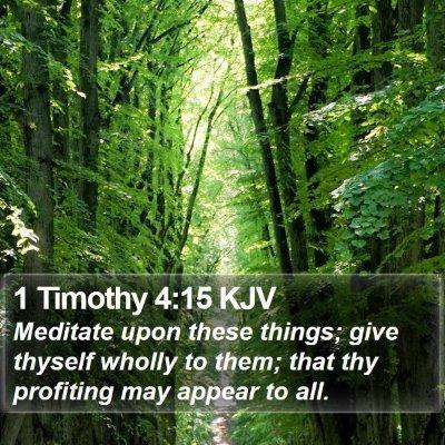 1 Timothy 4:15 KJV Bible Verse Image