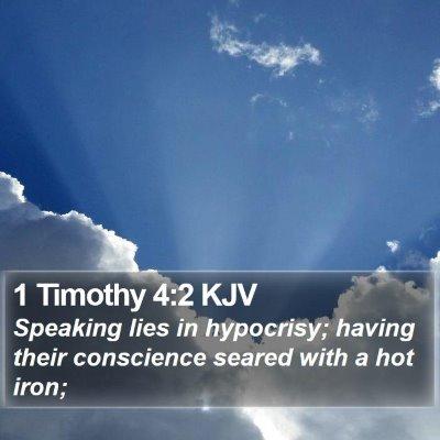 1 Timothy 4:2 KJV Bible Verse Image