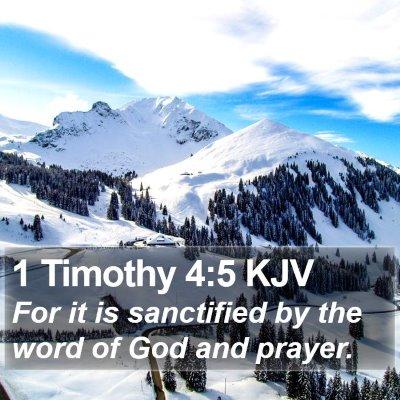 1 Timothy 4:5 KJV Bible Verse Image