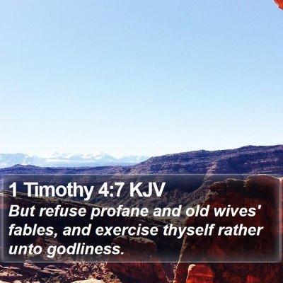 1 Timothy 4:7 KJV Bible Verse Image