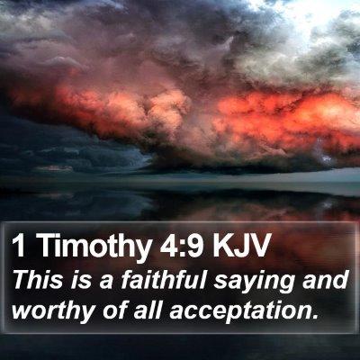 1 Timothy 4:9 KJV Bible Verse Image