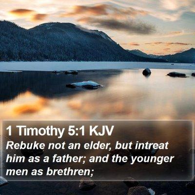1 Timothy 5:1 KJV Bible Verse Image