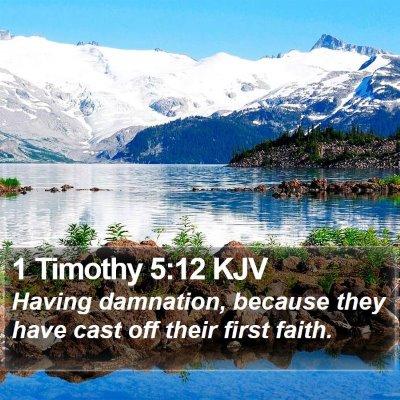 1 Timothy 5:12 KJV Bible Verse Image