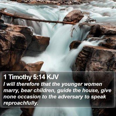 1 Timothy 5:14 KJV Bible Verse Image