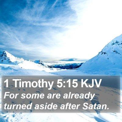 1 Timothy 5:15 KJV Bible Verse Image