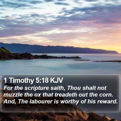 1 Timothy 5:18 KJV Bible Verse Image