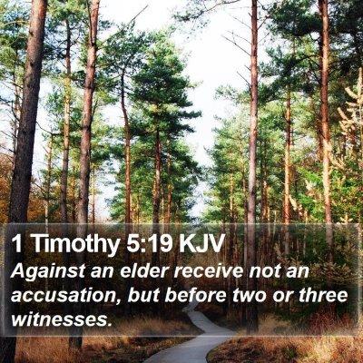 1 Timothy 5:19 KJV Bible Verse Image