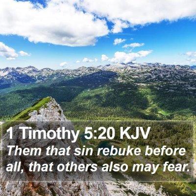 1 Timothy 5:20 KJV Bible Verse Image