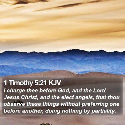 1 Timothy 5:21 KJV Bible Verse Image