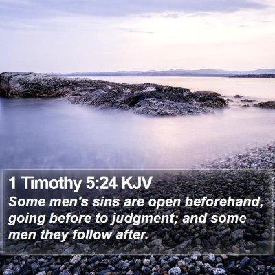 1 Timothy 5:24 KJV Bible Verse Image