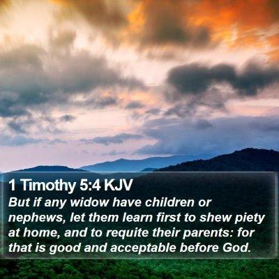 1 Timothy 5:4 KJV Bible Verse Image