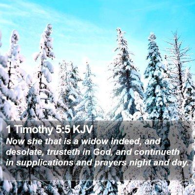 1 Timothy 5:5 KJV Bible Verse Image