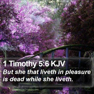 1 Timothy 5:6 KJV Bible Verse Image