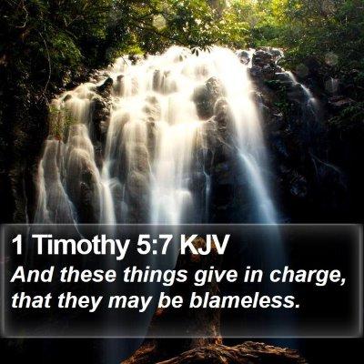 1 Timothy 5:7 KJV Bible Verse Image