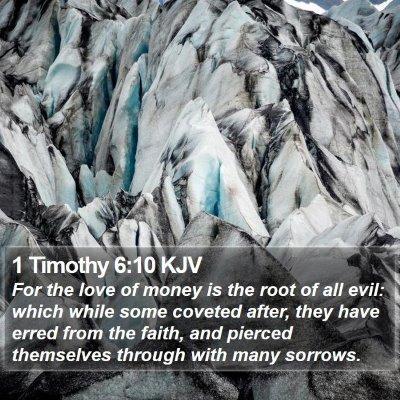 1 Timothy 6:10 KJV Bible Verse Image