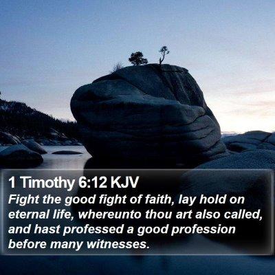 1 Timothy 6:12 KJV Bible Verse Image