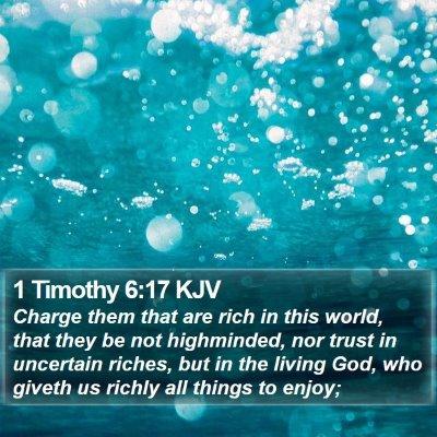 1 Timothy 6:17 KJV Bible Verse Image