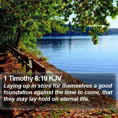 1 Timothy 6:19 KJV Bible Verse Image