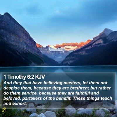 1 Timothy 6:2 KJV Bible Verse Image
