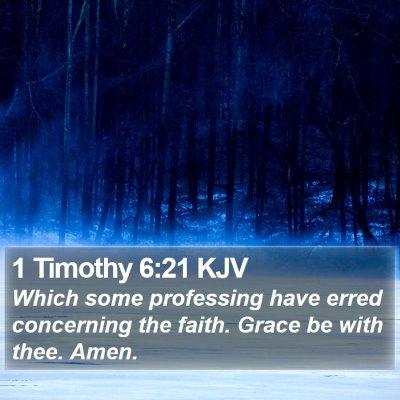 1 Timothy 6:21 KJV Bible Verse Image