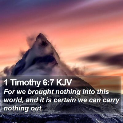 1 Timothy 6:7 KJV Bible Verse Image