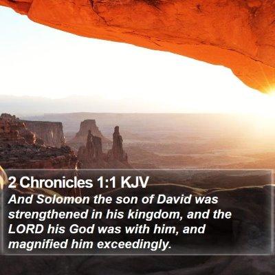 2 Chronicles 1:1 KJV Bible Verse Image
