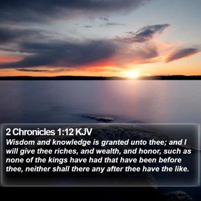 2 Chronicles 1:12 KJV Bible Verse Image
