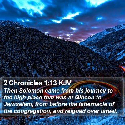 2 Chronicles 1:13 KJV Bible Verse Image