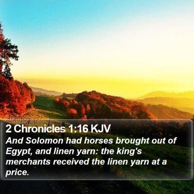 2 Chronicles 1:16 KJV Bible Verse Image