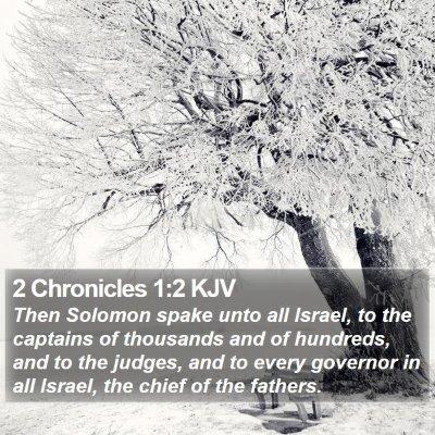 2 Chronicles 1:2 KJV Bible Verse Image