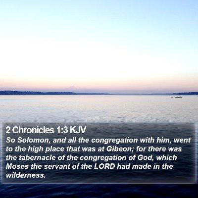 2 Chronicles 1:3 KJV Bible Verse Image