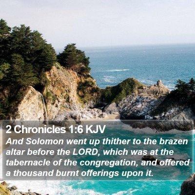 2 Chronicles 1:6 KJV Bible Verse Image