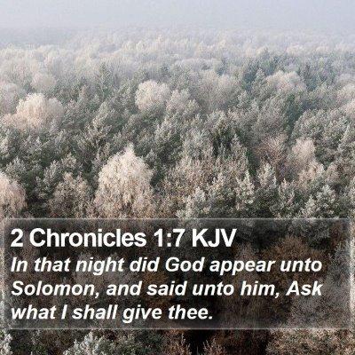 2 Chronicles 1:7 KJV Bible Verse Image