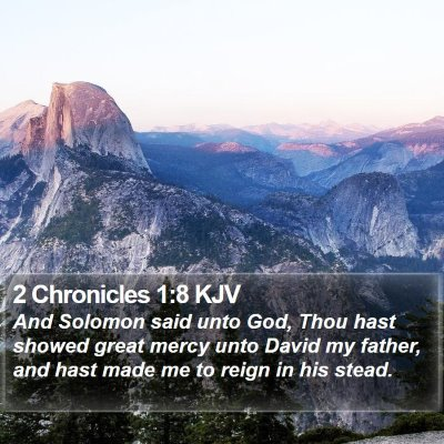 2 Chronicles 1:8 KJV Bible Verse Image