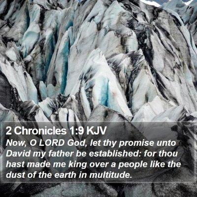 2 Chronicles 1:9 KJV Bible Verse Image