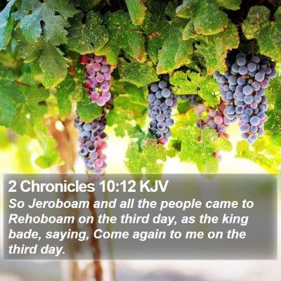 2 Chronicles 10:12 KJV Bible Verse Image