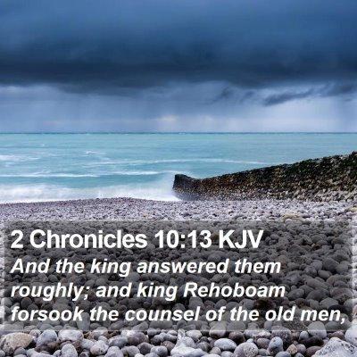 2 Chronicles 10:13 KJV Bible Verse Image