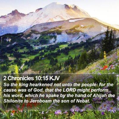 2 Chronicles 10:15 KJV Bible Verse Image