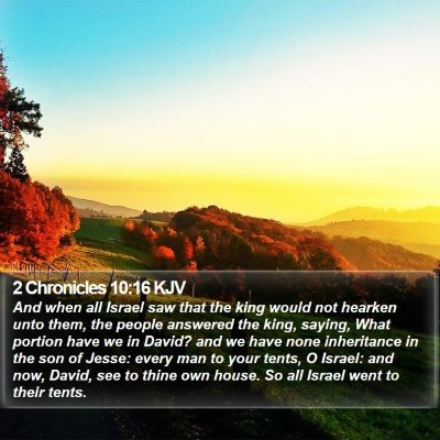 2 Chronicles 10:16 KJV Bible Verse Image