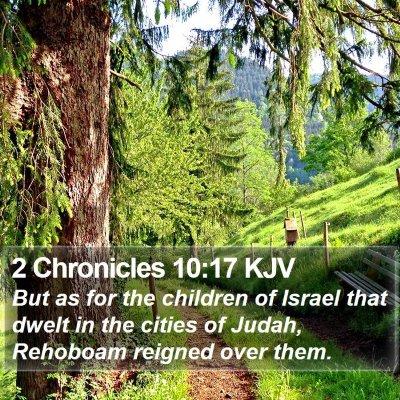 2 Chronicles 10:17 KJV Bible Verse Image