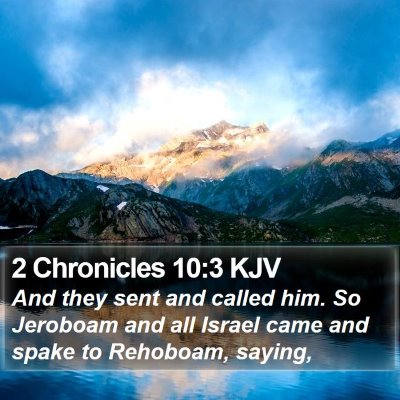 2 Chronicles 10:3 KJV Bible Verse Image