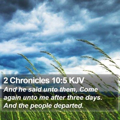 2 Chronicles 10:5 KJV Bible Verse Image