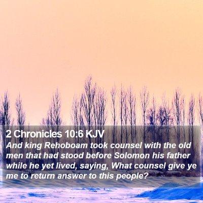 2 Chronicles 10:6 KJV Bible Verse Image