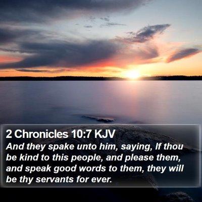 2 Chronicles 10:7 KJV Bible Verse Image