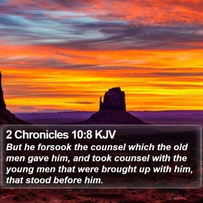 2 Chronicles 10:8 KJV Bible Verse Image